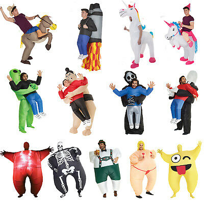 Scary Lift Me Pick Me Up Inflatable Costume Morphsuit Bachelor Halloween Party