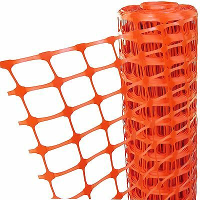 50m Long x 1m Tall Plastic Safety Fencing Orange Barrier Mesh Net Event Screen