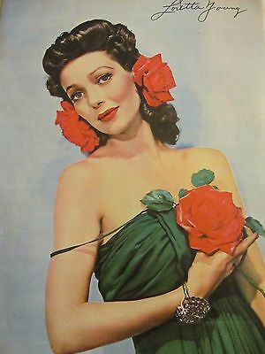 Loretta Young, Full Page Vintage Pinup