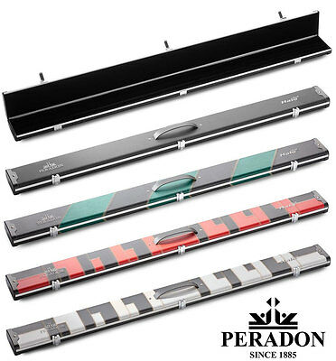 3/4 Halo Plus Snooker Cue case by Peradon - Aluminium Extra wide with 3 sections