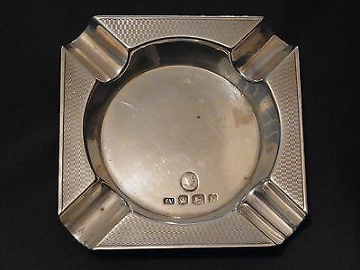 Sterling Silver Queen Elizabeth II Coronation Ashtray Sheffield 1952 - Viners(1)