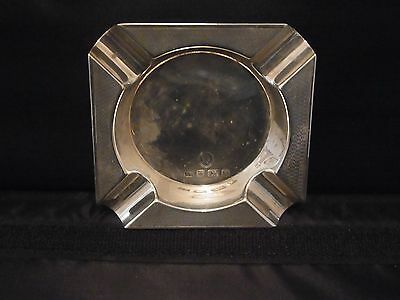 Sterling Silver Queen Elizabeth II Coronation Ashtray Sheffield 1952 - Viners(2)