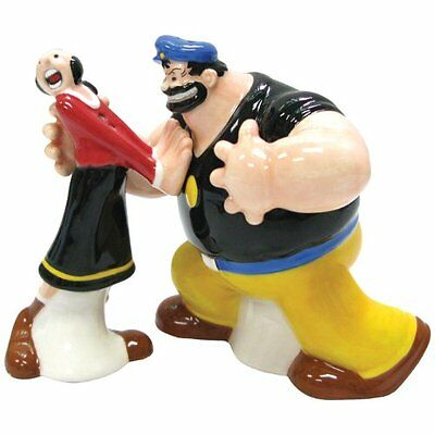 Olive Oyl and Brutus Magnetic Ceramic Salt & Pepper Shakers - Westland Gifts