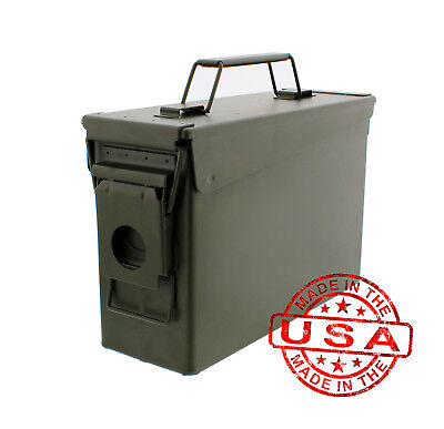 Battle Steel .30 Cal Metal American Made Military GI Ammo Can M19A1 - 16/Pack