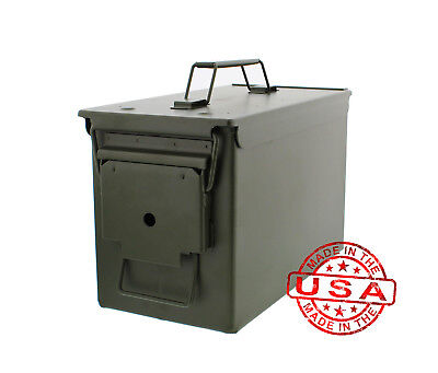 Battle Steel .50 Cal Metal American Made Military GI Ammo Cans M2A1 - 12/Pack