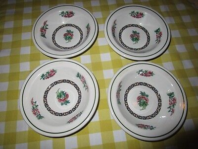 "Lot of 4 Vintage Shenango China Roses Design 6 1/4"" Side Dishes"