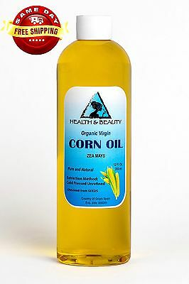 Corn / Maize Oil Organic Unrefined Virgin Cold Pressed Raw Premium Pure 12 Oz