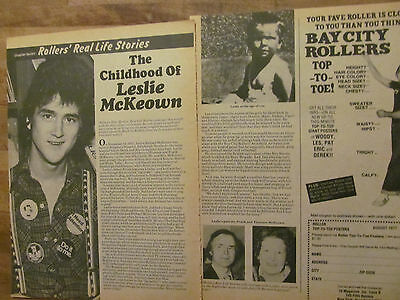 Les McKeown, The Bay City Rollers, Two Page Vintage Clipping