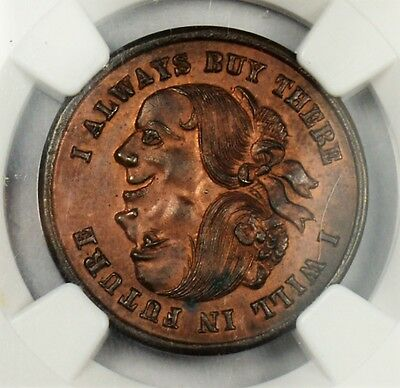 1876 Kelly's Furniture 2 Head -  R-Pa-Ph-971E --  Ms63Rb Ngc