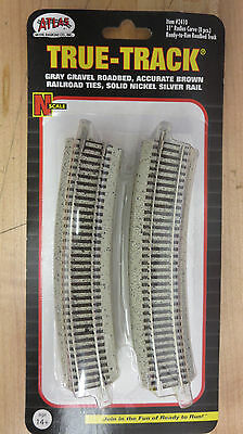 "Atlas 2410 True-Track Code 55 11"" Radius Curve 8 Pack W/Roadbed N-Scale NOS"