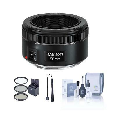 Canon EF 50mm f/1.8 STM Lens, USA Warranty with Free PC Accessory Bundle