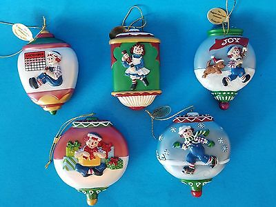 Danbury Mint Ornament Raggedy Ann And Andy