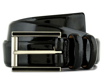 Calvin Klein Women's 2-Loop Leather Belt - Black