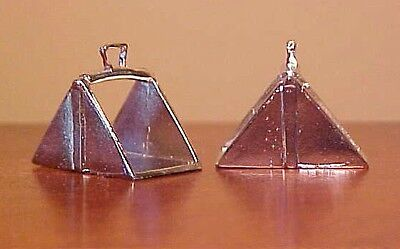RDLC Traditional 1:9 Model Horse Scale SPANISH VACQUERO STIRRUPS - Silver-toned