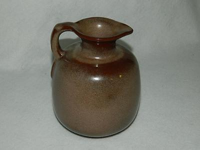 Frankoma Pottery Honey Jug Pitcher 833 Brown Satin 24 oz Free Ship