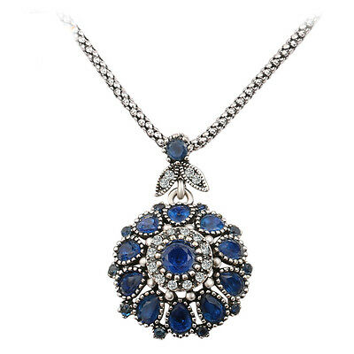 Fashion Bohemia Vintage Jewelry Crystal Resin Pendant For Women Gift Necklace