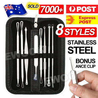 7Pcs Kit Blackhead Extractor Remover Tool Pimple Blemish Comedone Set Acne Clip