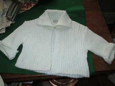 Vintage White Toddler/girls Sweater 100% Orlon Fashioned By Newport 5T?