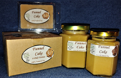 Vanilla Cake Scent Tarts /& 4-Pack Votives **NEW** Hand Poured Soy Candles