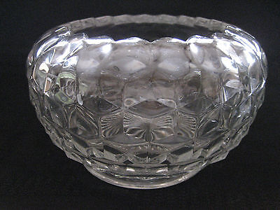 Fostoria Glass - 7 Inch Cupped - In Footed Bowl  American Pattern