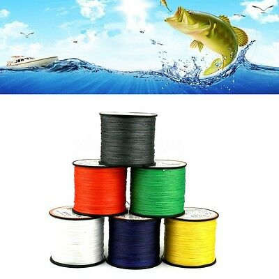 100M / 500M Carp Pike Coarse Sea Fishing Braid Line Lead Bulk Spool 15lb to 80lb