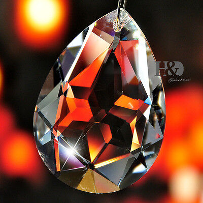 Clear Crystal Chandelier Lamp Part Prism Drop Hanging Pendant Suncatcher 50mm