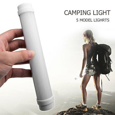 LED Portable USB Rechargeable Tube Light Outdoor Camping Hiking Tent Lamp Lanter