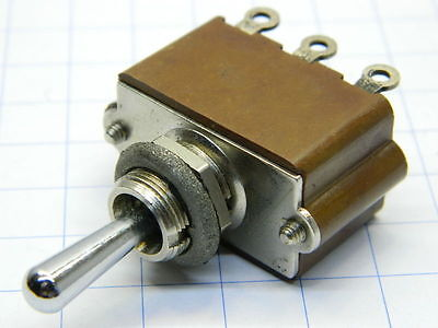 Deviatore a levetta ON-OFF-ON 2 vie 10A , APR France norme MIL switch