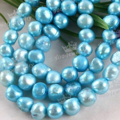 "6-7Mm Cultured Freshwater Baby Blue Pearl Beads 15""l"