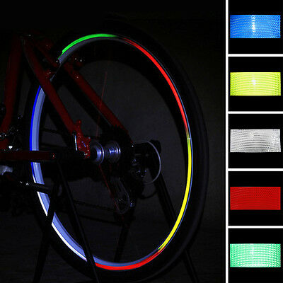 Fluorescent Mountain Bike Bicycle Cycling Wheel Rim Reflective Stickers Decal