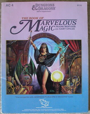 D&d - Ac4 - The Book Of Marvelous Magic - Dungeons&dragons - Tsr