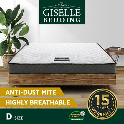 Luxury DOUBLE Mattress Bed Size Bonnell Spring Density Foam Medium Firm 16cm