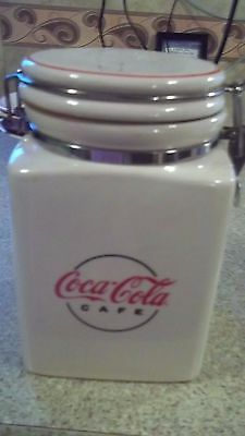 Coca cola Canisters Coke Gibson Ceramic Canister Stoneware Cafe
