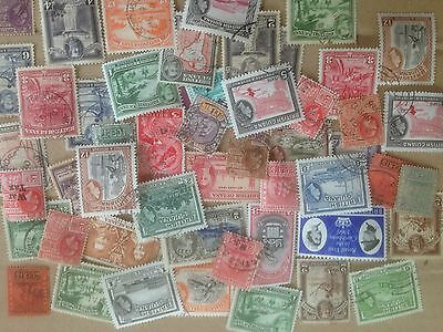 100 Different British Guiana Stamp Collection