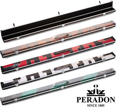 3/4 Halo Snooker Cue case by Peradon - Slim Aluminium with new colours for 2017