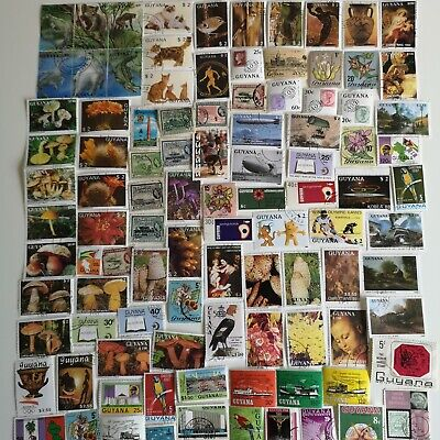 500 Different British Guiana and Guyana Stamp Collection
