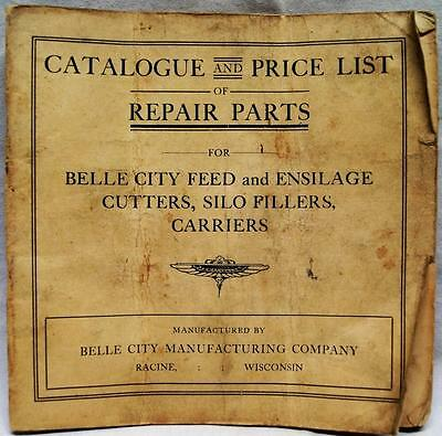 Belle City Manufacturing Farm Equipment Repair Parts Catalog Price List 1919
