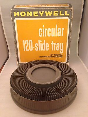 "Honeywell 6652 Slide Carousel Tray White - Holds 120 2"" x 2"" Slides w/ Box"