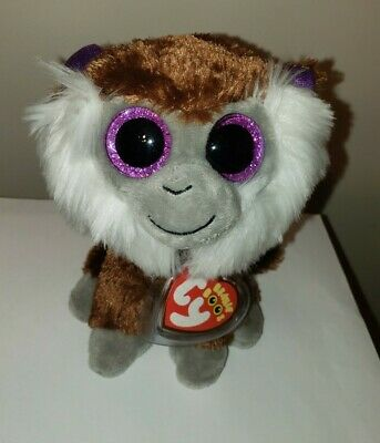 "Ty Beanie Boos ~ TAMOO the Monkey 6"" (Glitter Eyes) NEW MWMT European Exclusive"