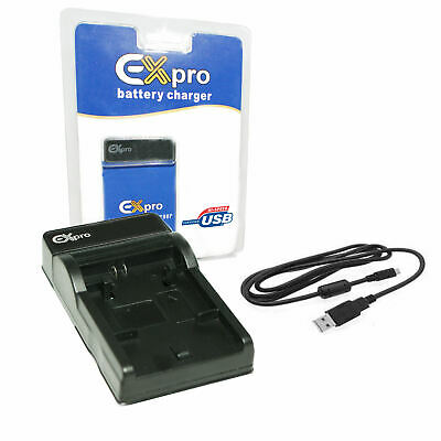 Ex-Pro for Sony NP-FH50, NPFH50 BC-VH1 EZi-Power USB Charger & Cable