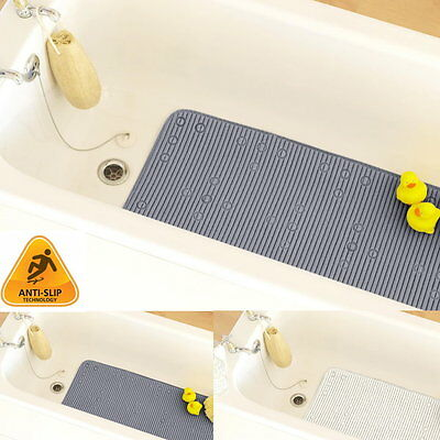 Extra Long Anti Slip Softee Bath Shower Tray Mat Soft Cushioned Suction Cups
