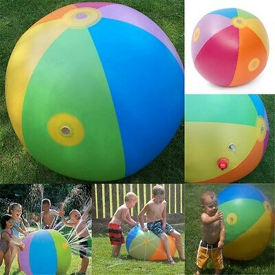 Inflatable Water Fountain Ball Sprinkler Kids Children Outdoor Beach Swimming