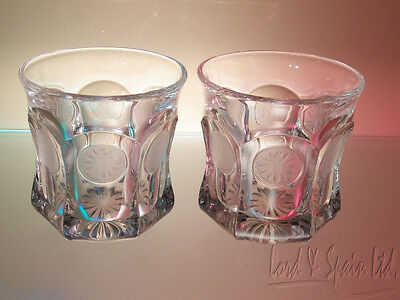2 Fostoria COIN Clear Old Fashioned Tumbler Glasses
