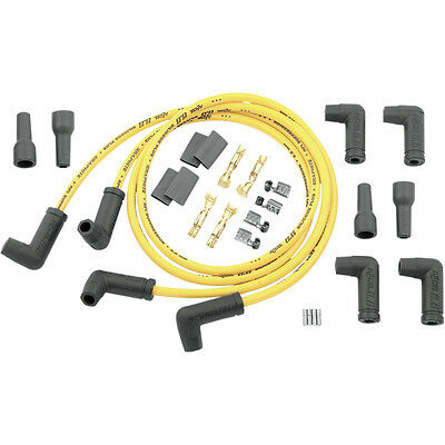 Accel Yellow 8.8mm Dual-Plug w/ 90° Ends Spark Plug Wires Harley Motorcycle