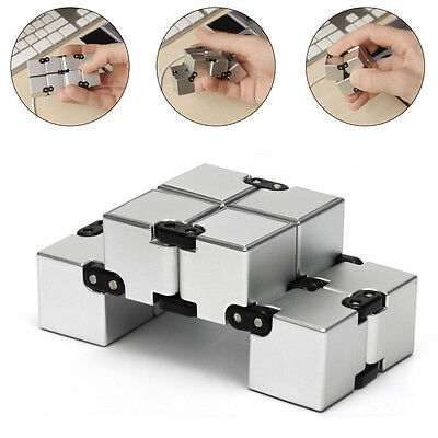 Infinity Cube EDC Stress Relief Fidget Anti Anxiety Aluminum ADHD Adults Kids
