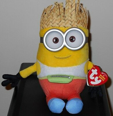 """2017 Ty Beanie Babies Illumination Despicable Me 3 ~DAVE the Minions 6"""" Size NEW"""