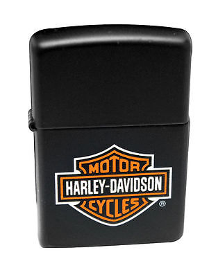 Zippo Lighter 218HD.H252  Black Matte Harley Davidson Logo Windproof NEW