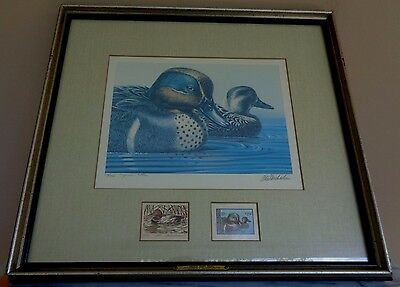 Framed Federal Duck Stamp Print Green-Winged Teal 1979 Ken Michaelsen Remarqued