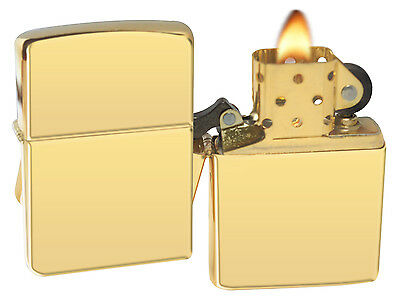 Zippo Lighter 254B High Polish Brass Windproof NEW