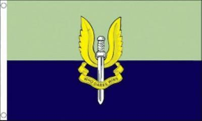 SPECIAL AIR SERVICE ( SAS  ) FLAG 5ft X 3ft ( BLACK OR BLUE  )
